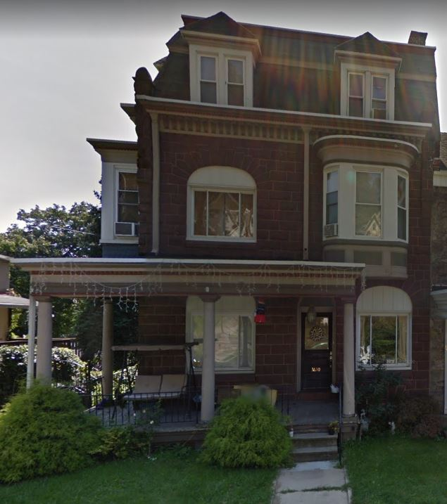 Emaline Hoff Johnston home in Reading, Pennsylvania. 1608 Mineral Spring Road.